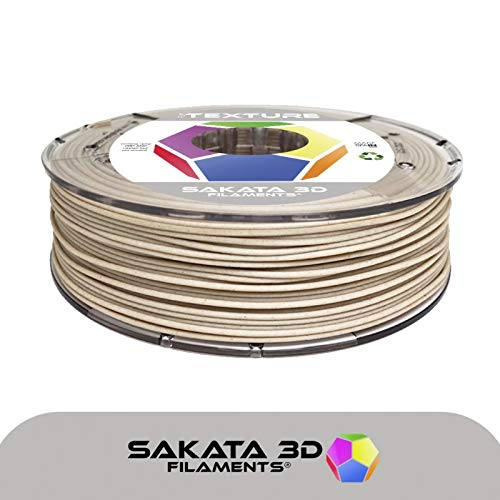 SAKATA 3D - 450g de Filamento PLA 1.75MM, PLA Texturizdo madera/Color Arcepara impresoras y pluma 3D. Fabricado en España (Arce - textura de madera)