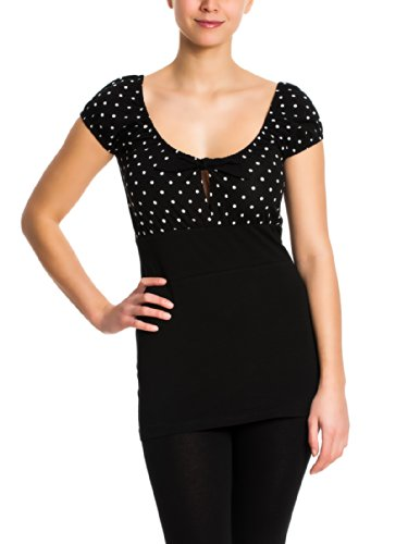 Pussy Deluxe Dolly Dotties Shirt Maglia donna nero XS