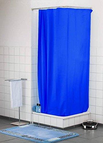 Duschvorhang Color blau H 200cm x B 180cm Badewannenvorhang Wannenvorhang Textilvorhang Dusche Vorhang für die Dusche