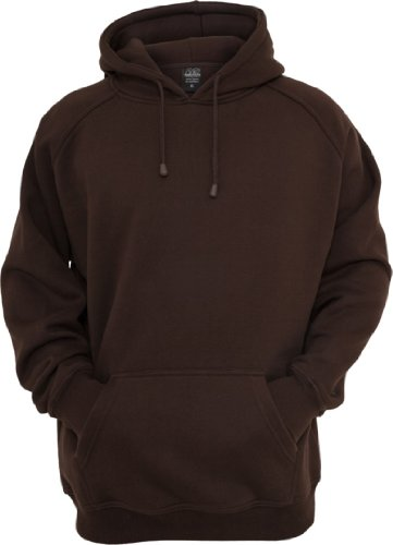 Urban Classics felpa con cappuccio in pile TB014 Brown XXX-Large