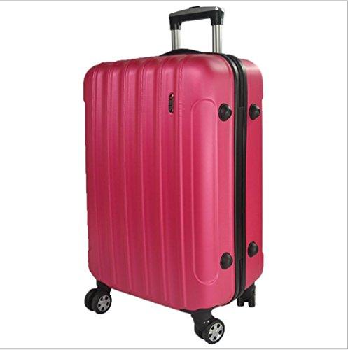 Xiuxiandianju 20 pollici 24 pollici commercio estero valigia uomini ABS macchia password imbarco casella caster Valigia Trolley da viaggio (56-75L) , red , 24 inch