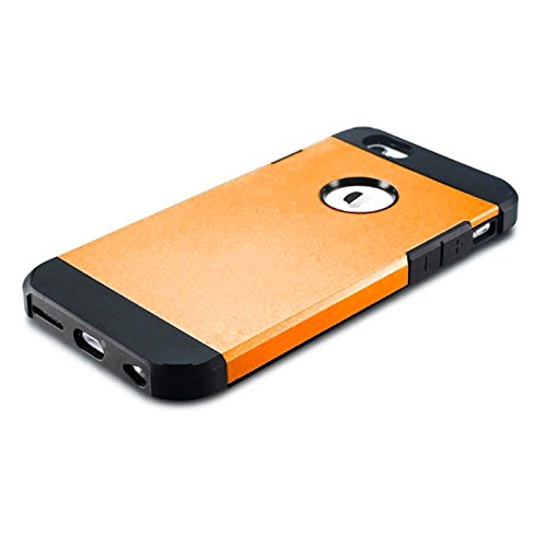 GHC Cases & Covers, Hybrid PC + TPU Tough Armor Farbe Hard Case Cover für iPhone 6 ( Color : Gold ) Orange