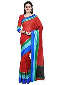 7bedea848de17 Varayu Women s Cotton Silk Multicolor Plain Casual Wear Saree