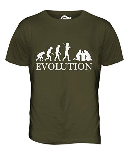 CandyMix Armdrücken Evolution Des Menschen Herren T Shirt Khaki Grün