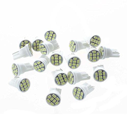 SODIAL(R) 20X T10 W5W 168 194 8 SMD LED Ampoule Feux Lumiere Blanc Pour Voiture