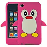 Hot Pink Penguin Style Case Back Cover For Apple iPod Touch 4TH Gen Generation 4 4G BRAND - SKS Distribution®