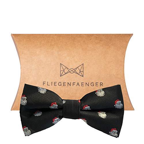FLIEGENFAENGER® Weihnachtsfliege für Herren Anzug - gebunden und individuell verstellbar - Schleife Accessoire für Männer inkl. Geschenkbox kombinierbar mit Einstecktuch Weihnachten Fliege