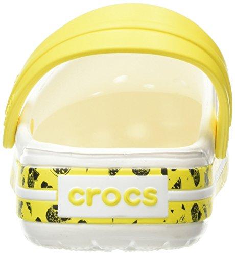Crocs - Cbfruitclg, Zoccoli Unisex – Adulto Bianco (White)