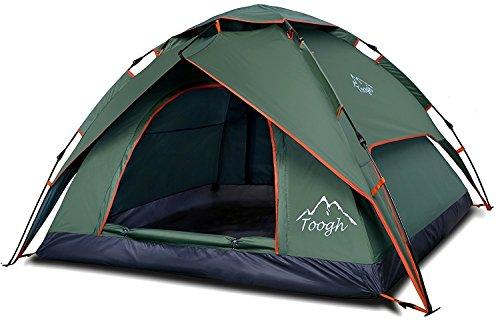 2-3 Personen Pop Up Familien Camping Zelte - Toogh Rucksack Zelte, Drei Jahreszeiten, Doppeltüren Und Moskitonetze, Inklusive Tragetasche (Nylon Rucksack Fox)