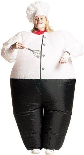 ostüm: Selbstaufblasendes Kostüm Koch (Aufblasbare Faschingskostüme) (Kostenloser Versand Kostüm)