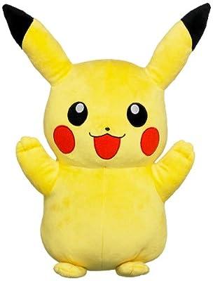 Tomy 71799 - Peluche grande de Pikachu, color amarillo de Tomy