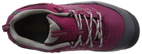 KEEN Women's Saltzman WP Hiking Shoe, Beet Red/Neutral Gray, 5.5 M US Beet Red/Neutral Gray