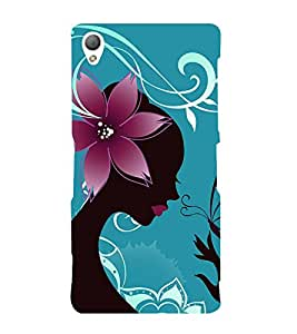 Fiobs Designer Phone Back Case Cover Sony Xperia Z3 :: Sony Xperia Z3 Dual D6603 :: Sony Xperia Z3 D6633 ( Beautiful Butterfly Lady )