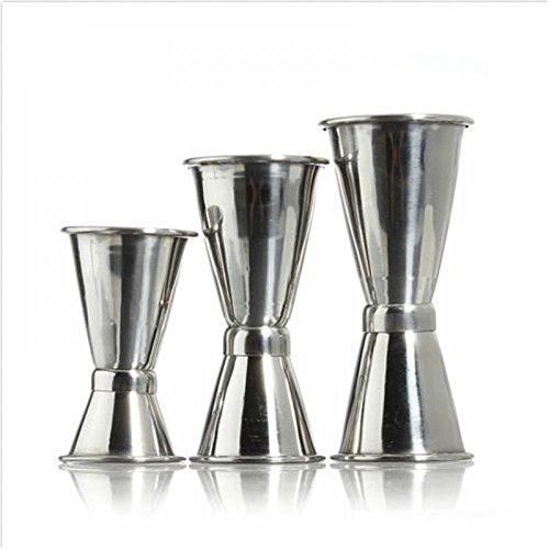 1 Pack mit 3 Größe Jigger Single Double Shot Cocktail Wein Kurz Messen Cup von GOOTRADES Drink Bar Party 3 Oz-jigger