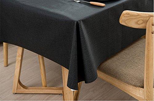 Ommda Nappe de Table Rectangulaire PVC Imperméable pour Picnique 140x200cm Gris foncé