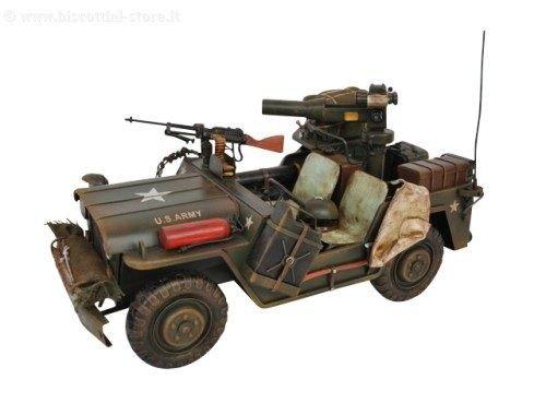 Sconosciuto modellino latta auto jeep militare modellismo auto modellino collezione regalo