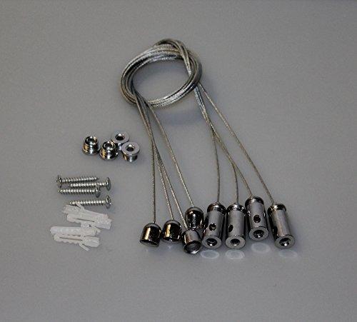 4x Seilabhängung für LED Panel Deckenbefestigung Seil Befestigungsset Aufhängung HELITEC