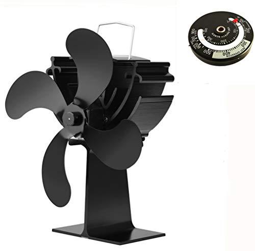Exing Ofen Fan Stove Fan mit 4 Rotorblätter,Kein Strom Erforderlich,Umweltfreundlicher - Umwandlung von Wärmeenergie in Elektrische Energie zum Antrieb Von Lüfterflügeln -