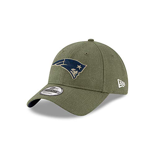 New Era New England Patriots 9twenty Adjustable Cap On Field 2018 Salute to Service Green - One-Size -