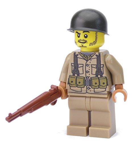 WW2 WWII Custom Soldado Americano BrickArms M1 Garand