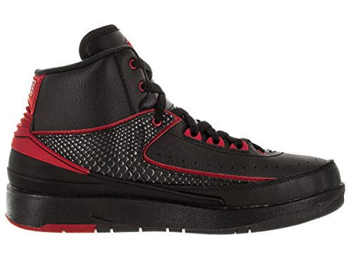 Nike Air Jordan 2 Retro Bg, Chaussures de Sport Garçon Multicolore - Negro / Rojo (Black / Varsity Red)