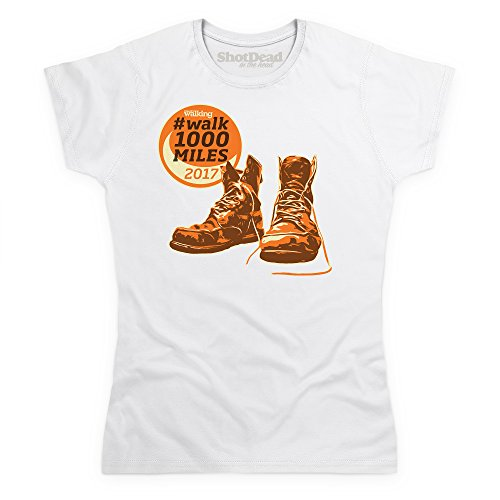 Shotdeadinthehead Walk 1000 Miles 2017 Boots T Shirt, Female