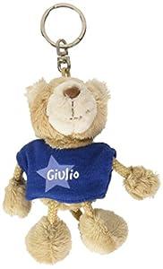 NICI n15877-Llavero Oso con Camiseta Giulio, Azul