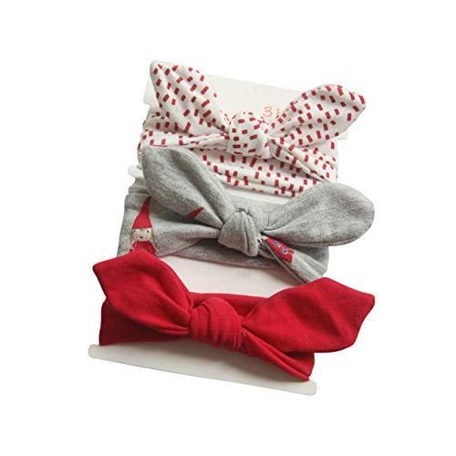 COUXILY 3 Stück Baby Mädchen Stirnband 100{764eb870265d1a0a7a703fa6338548898d40de49a26bc9bca6cd658ad66c2dc1} Baumwolle Haarband mit Bogen für 0-24 Monaten (B01)