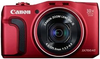 Canon PowerShot SX700 Digitalkamera (16,1 Megapixel, 30-fach opt. Zoom, 7,5 cm (3 Zoll) LCD-Display, NFC, Full HD) rot
