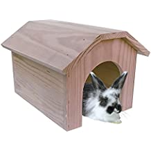 ICA CAS55 Accesorio de Recreo Casita de Madera para Conejos