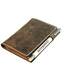 Leaderachi Hunter Leather Passport Holder Wallet (Italy-Muskat)