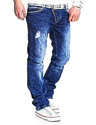 MT Styles Jeans Side-Zip Blau RJ-2045