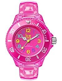 ICE-Watch - HA.NPK.M.U.15 - Ice Happy - Neon Pink - Montre Enfant - Quartz Analogique - Cadran Rose - Bracelet Polyuréthane Rose