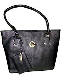 Anvi Women's PU Handbag, Black