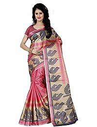 Trendz Style Taffeta Silk Bird Printed Saree