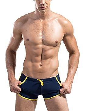 Lantra Besa–Pantalones de natación Surf ropa interior troncos playa pantalones cortos Boxer Swimmwear con cordón...