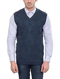 aarbee Men's Wool Sleeveless Sweater