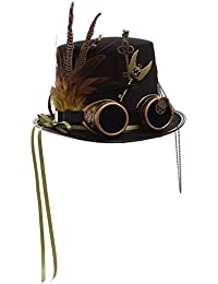 GRACEART Steampunk Haut Chapeaux avec des lunettes (divers styles)
