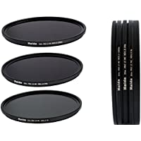 HAIDA Slim PRO II Digital MC Neutral Graufilter Set bestehend aus ND8x, ND64x, ND1000x Filtern 77mm inkl. Stack Cap Filtercontainer + Pro Lens Cap mit Innengriff