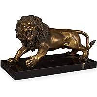 Lion Sculpture LÖwenfigur Letzter Stil Bronze LÖwe Kampf Mit Der Schlange Nach Louis Barye