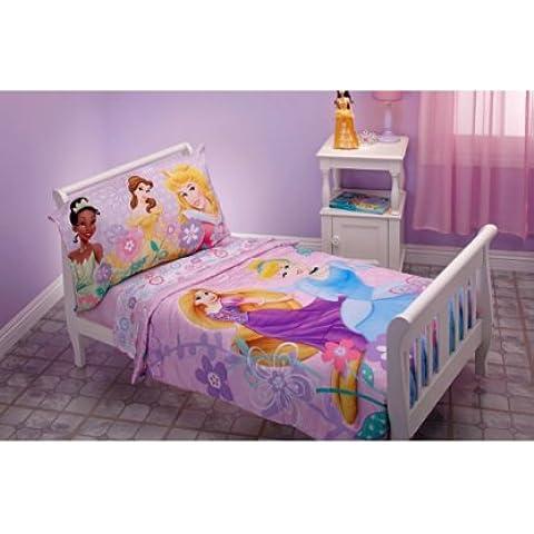 Disney Princess Rapunzel–SET Biancheria da letto per bambini 4pezzi, Aurora,
