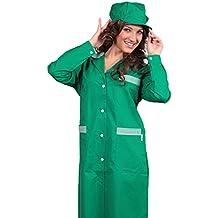 Bata bicolor de trabajo, para mujer, para limpieza doméstica, trabajadora de fábrica,