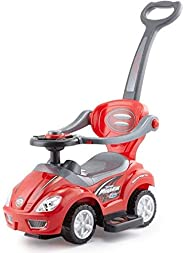 Deluxe Mega Car 3 In 1 Activity Ride-On For Unisex (Red)