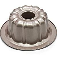 Fluted Cake Pan 7-Inch,Bakeware Non-Stick Bundt Baking Molds,Instant Pot Original Bread Pans,Gold