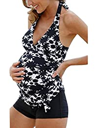 09f76e32a Bikini De Maternidad para Mujer Tallas De Bañador Casuales Mujeres Baño De  Maternidad Bañador De Dos Piezas Conjunto De Trajes De Baño…