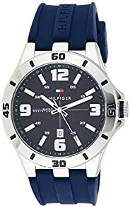 Tommy Hilfiger Men's Black Dial Silicone Band Watch - 1791062, Analog Dis