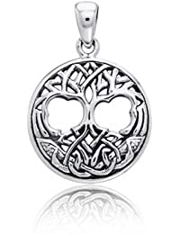 Bling Jewelry Celtic Knotwork Árbol de la Vida Colgante Plata Eterlina