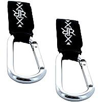 XiRRiX alta calidad Mosquetón cochecito gancho Soporte Stroller Hooks–Funda soporte para fijar al cochecito/Buggy–2Unidades
