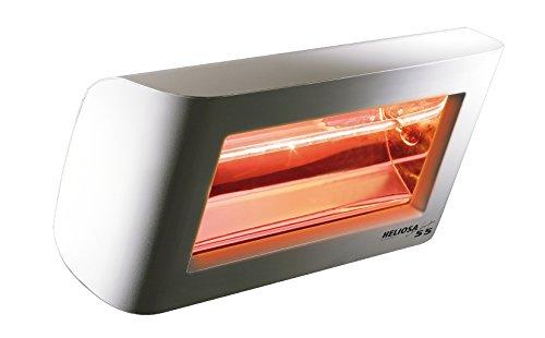 Heliosa 55 55B20 Heizstrahler Terrassenstrahler Infrarotstrahler 2000 Watt (leistungsstark) IPX5, aus robustem Aluminium-Druckguss hergestellt und mit thermoplastischen Lacken für den Außenbereich lackiert. Kurzwellen - Heizstrahler für Indoor und Outdoor geeignet, Farbe: RAL 9016 Weiß