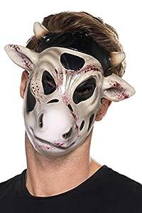 Smiffys 49117 - Máscara para matar vacas, unisex, color blanco, talla única